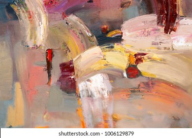 Abstract picture. Oil painting. High resolution photo.