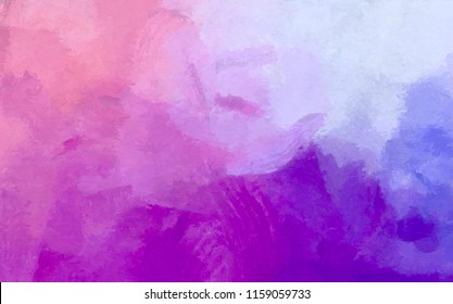 Abstract pink art background. Digital painting. Color texture. Fragment of artwork. Spots of oil paint. Brushstrokes of paint. Modern art. Contemporary art. Colorful canvas.
