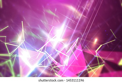 Abstract pink background. Explosion star. Motion background. illustration digital.