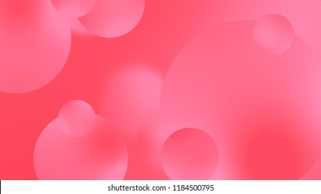 Abstract pink balls geometric gradient color background.For graphic design. 3d render illustration.