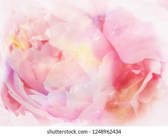 abstract pink blossoms