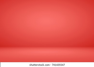 Abstract pink coral gradient background empty space studio room for display product ad website