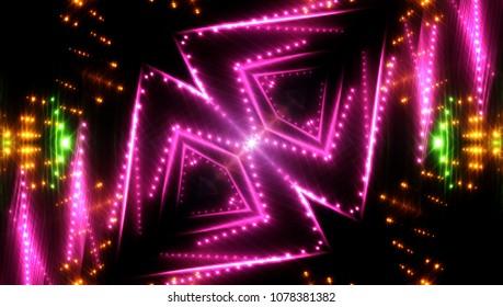 Abstract pink creative lights background. illustration digital.