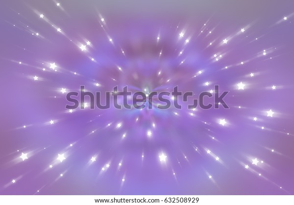 Abstract pink fractal composition. Magic explosion star with particles. motion illustration.