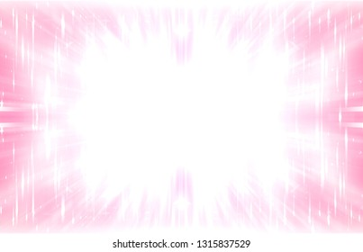 Abstract pink fractal composition. Motion illustration. Illustration for design.