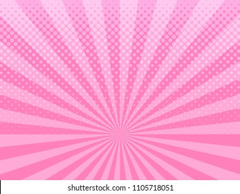 Abstract pink halftone design background retro raster illustration.