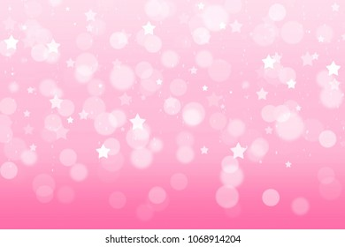 Abstract Pink Pastel Background Wallpaper. Light Pink Color Gradient  Blurred Bokeh Graphic Background With Shiny Idea