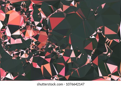 Abstract pink polygonal texture background. Geometric marble pattern for graphic design. Can be used as print or wallpaper. Swirl trangle futuristic artwork.