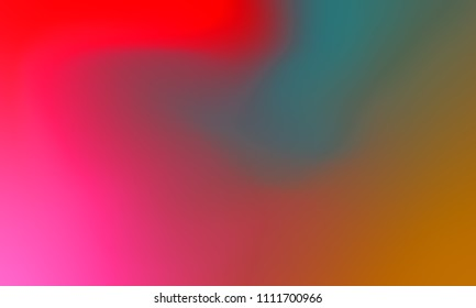 Abstract pink red and green soft cloud background in pastel colorful gradient.