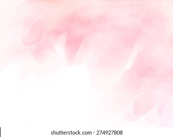 Abstract pink tones water color for background.
