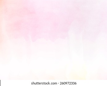 Abstract pink tones watercolor background.