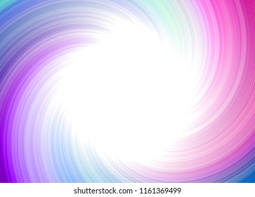 Abstract pink turquoise twirl whirl whirpool radial fairy design with empty central copy space