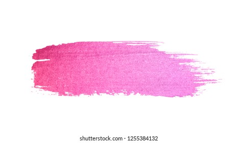 Abstract pink watercolor stain on white background for your design