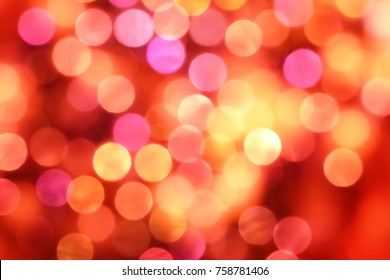 Abstract pink,red,orange bokeh background.