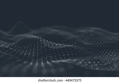 Abstract polygonal space low poly dark background with connecting dots and lines. Connection structure. Science background. Futuristic polygonal background. Triangular background. Wallpaper. Business.