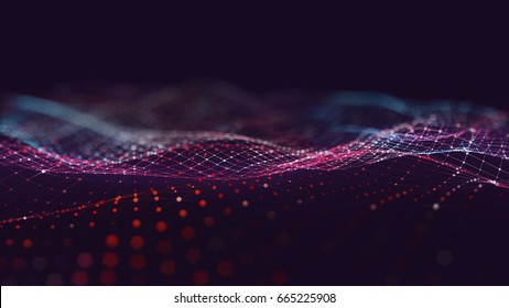 Abstract polygonal space low poly dark background with connecting dots and lines. Connection structure. Science background. Futuristic polygonal background. Triangular background. Wallpaper. Business