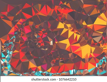 Abstract polygonal texture background. Geometric marble pattern for graphic design. Can be used as print or wallpaper. Swirl trangle futuristic artwork.