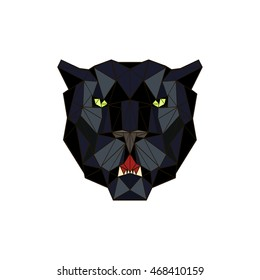 abstract portrait of a panther