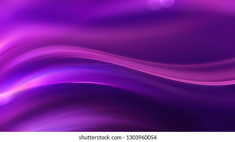 abstract purple background with glowing smooth lines