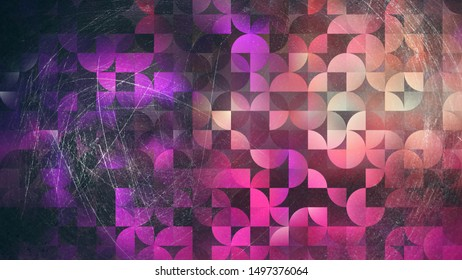 Abstract Purple Brown and Black Quarter Circles Background Image