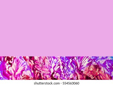 Abstract purple flowers and plants with purple background