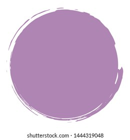 Abstract purple paint brush circle element isolated on white