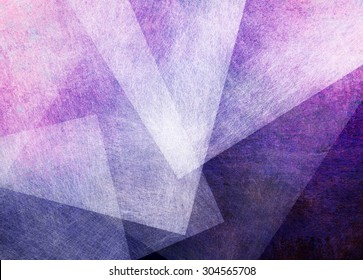 abstract purple and pink triangle and rectangle shapes on dark purple and black background, artsy random pattern layout with white transparent shapes with brush stroke texture