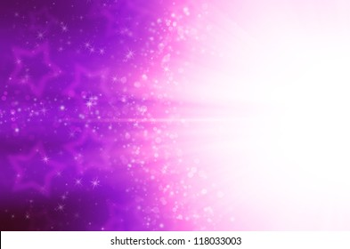 abstract purple stars background