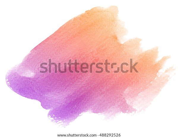 Abstract Purple Watercolor On White Background