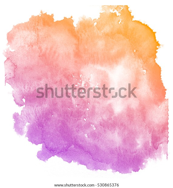 Abstract Purple Watercolor On White Background Stock
