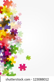 Abstract puzzle colorful background