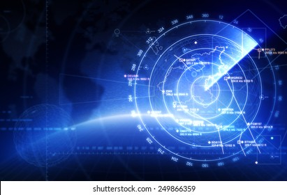 Abstract radar with targets in action