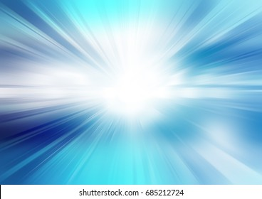Abstract radial blur blue background