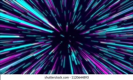 Abstract radial lines geometric background. Data flow tunnel. Explosion star. Motion effect. background