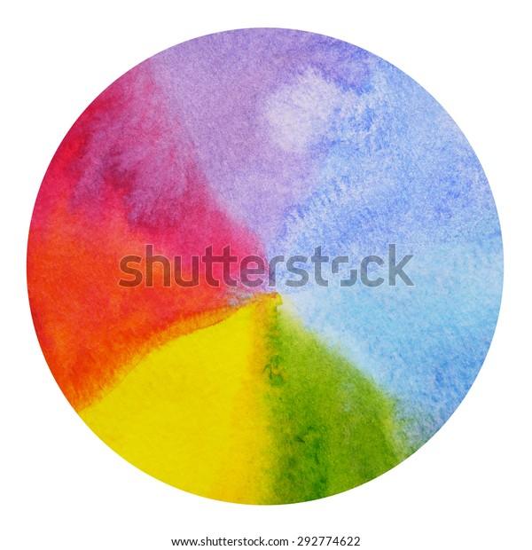 Abstract Rainbow Circle Shapechakra Aura Power Stock
