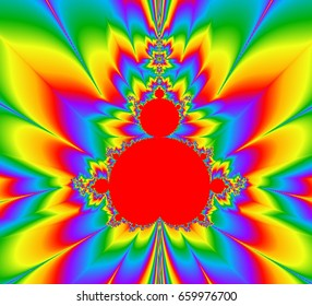 Abstract rainbow fractal