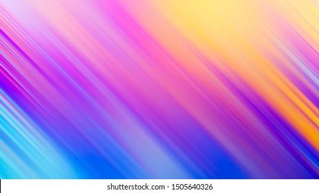 Abstract rainbow gradient color motion blur diagonal line hologram background
