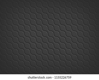 Abstract random round black pattern 3d illustration. Texture for background