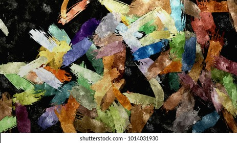 abstract raster decorative vintage texture, pattern background of paint watercolor smears, computer generated flower decor Design for tapestry, wallpaper,