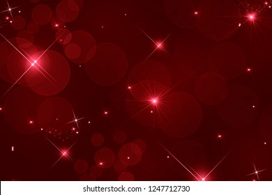abstract red background of defocused lights