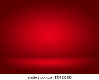 Abstract red background for web design templates, valentine, christmas, product studio room and business report with smooth gradient color.