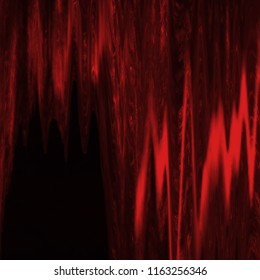 Abstract red with black digital screen glitch effect texture.