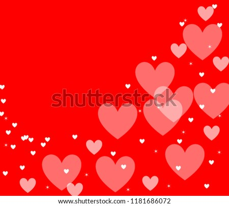 Abstract Red Collorful Background Valentine Days Stock Illustration