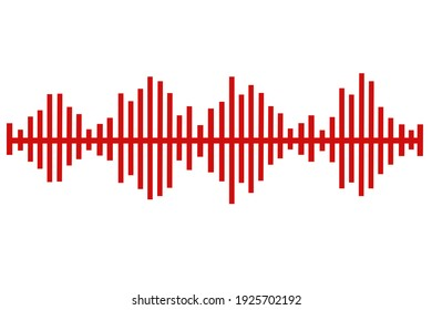 abstract red color audio soundwave background