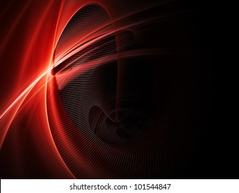 Abstract red element over black background