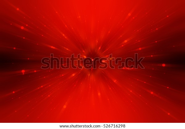 Abstract red fractal composition. Magic explosion star with particles. motion illustration