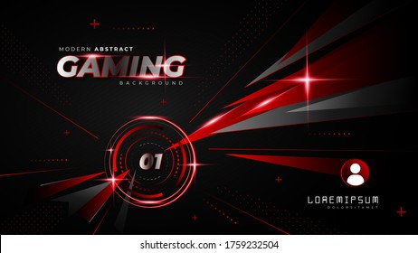 Abstract Red Futuristic Gaming Background for Opening Game Count