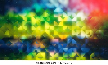 Abstract Red Green and Blue Quarter Circles Background Image