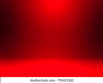 abstract red light empty room studio background for presentation with red gradient color