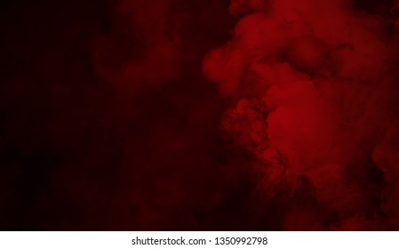 Abstract red smoke texture . Mistery fog overlays background.